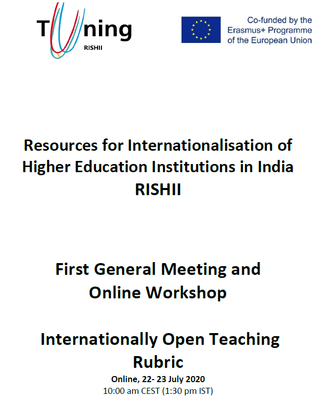 First General meeting and online workshop